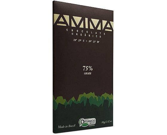 Amma Chocolate Orgânico 75% Cacau 80g