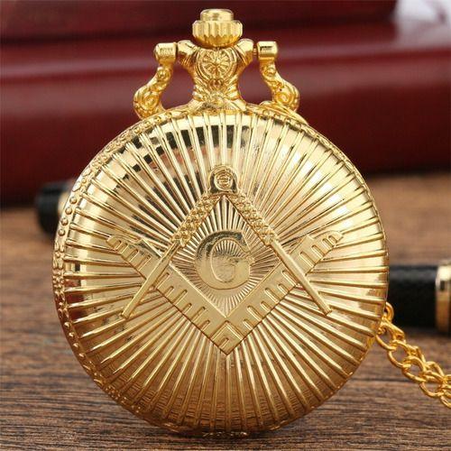 Relógio Maçônico de Bolso Gold
