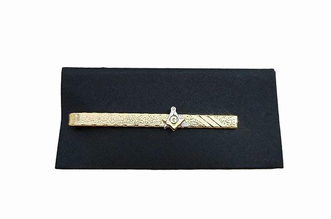 Prendedor de Gravata Freemason Gold - Folheado a Ouro