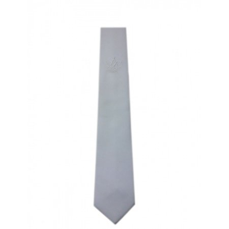 Gravata Branca Bordada