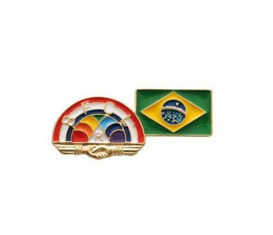 Pin Rainbow Girls + Brasil