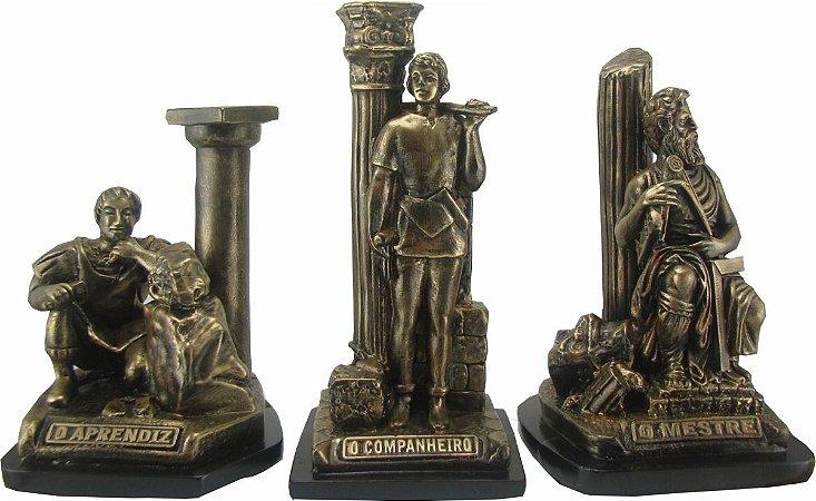 Conjunto Estatuetas Graus Simbólicos Maçonaria