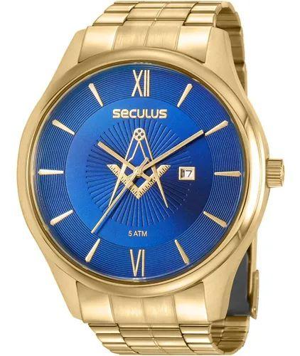 Relógio Seculus Freemason Gold