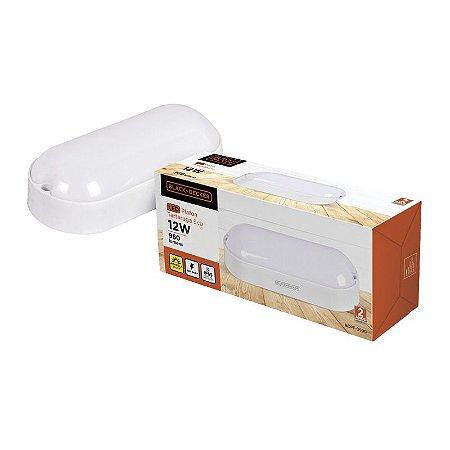 Luminária Plafon Tartaruga LED IP65 12W 6500k Black Decker