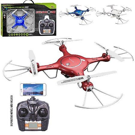 Drone Quadricóptero Explorer Cam c/ Câmera Wi Fi