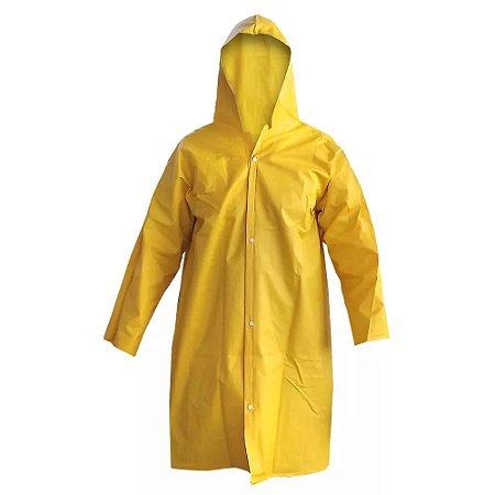 Capa de Chuva Amarela PVC Forrada