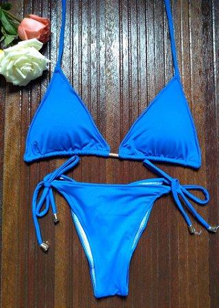 Biquíni cortininha Azul Royal