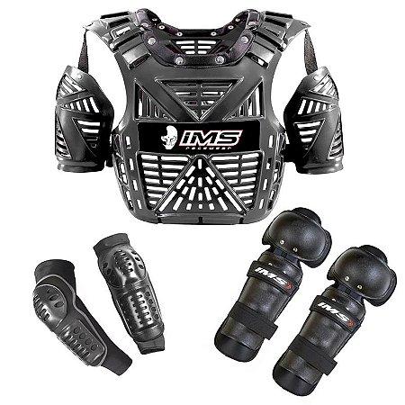 Kit de proteção: colete + cotoveleira + joelheira IMS