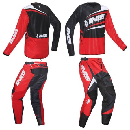 Kit calça + camisa: Conjunto IMS Flex vermelho