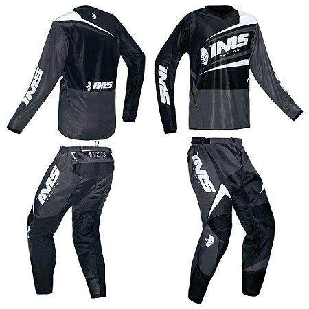 Kit calça + camisa: Conjunto IMS Flex cinza