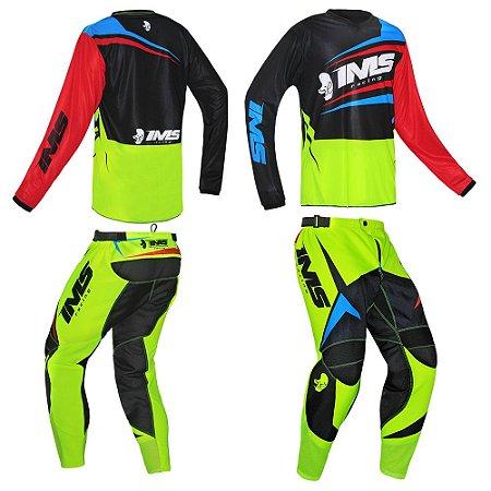 Kit calça + camisa: Conjunto IMS Flex neon