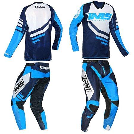 Kit Calça + Camisa: Conjunto IMS Sprint azul
