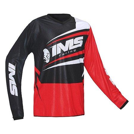 Camisa trilha moto e bike IMS Flex vermelha