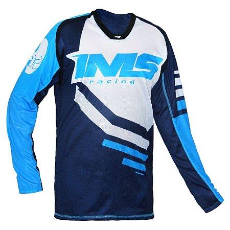 Camisa trilha moto e bike IMS Sprint azul