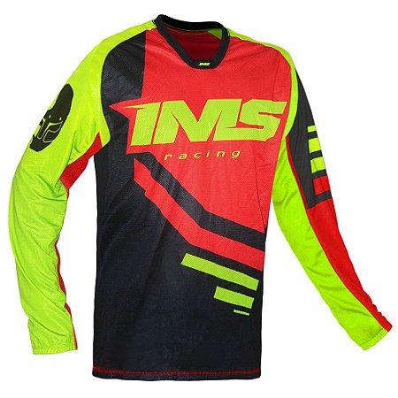 Camisa trilha moto e bike IMS Sprint vermelha
