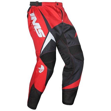 Calça de trilha motocross IMS Flex vermelha