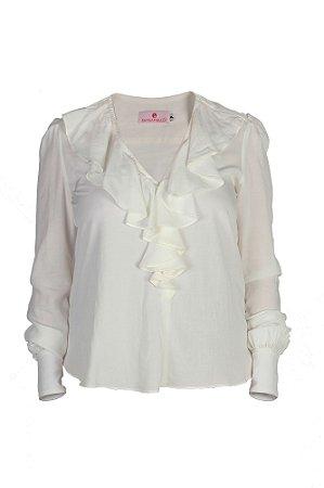 Blusa feminina com jabour – Off white