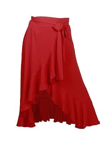 ee41feec70 Saia envelope midi babados - vermelho - Loja Shana Muller