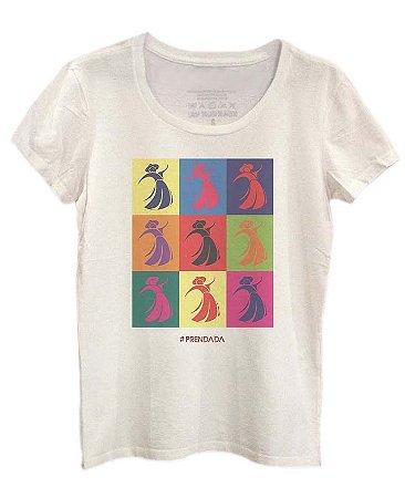 Camiseta Prendada Pop color - Offwhite