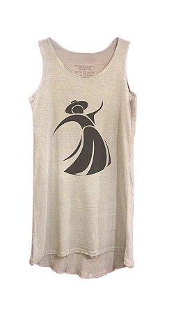 Vestido Gauchinha - sem manga - cinza