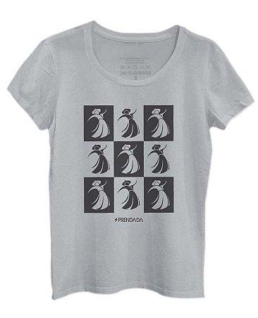 Camiseta Prendada Pop estampa preta - cinza