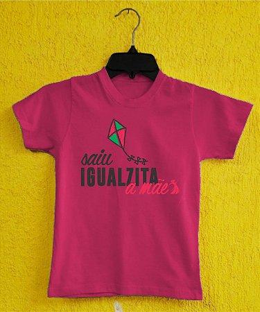 Camiseta Infantil Dia das Mães - Pipa Rosa - Rosa