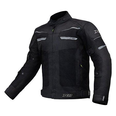 Jaqueta Motociclista X11 Breeze Preta Impermeável Ventilada