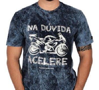 Camiseta Motociclista - Na Dúvida Acelere