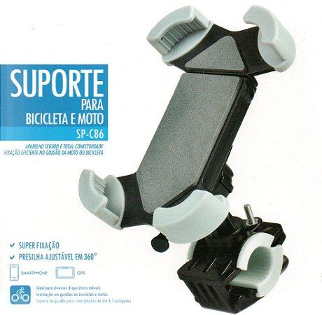 Suporte de Celular para Motos e Bicicletas SP-C86