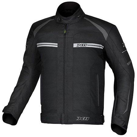 Jaqueta Motociclista X11 One 2 Preta Impermeável