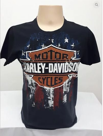 Camiseta Harley Davidson Bandeira