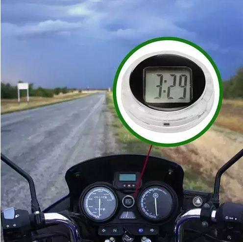 Relógio Adesivo a Prova D´água para Motos