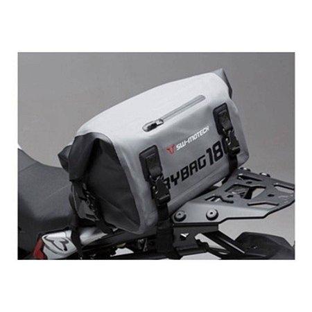 Mala traseira externa impermeável - Mod. DRYBAG 180 - 18 litros - Cinza