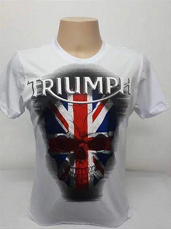 Camiseta Masculina Branca Triumph Caveira