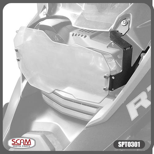 Protetor de Farol Policarbonato BMW R1200gs Advent 2013+ Scam Spto301