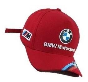 Boné Vermelho Moto Bmw Logo Emborrachado