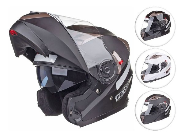 Capacete Gladiador Moto Texx Gladiator Articulado - Robocop
