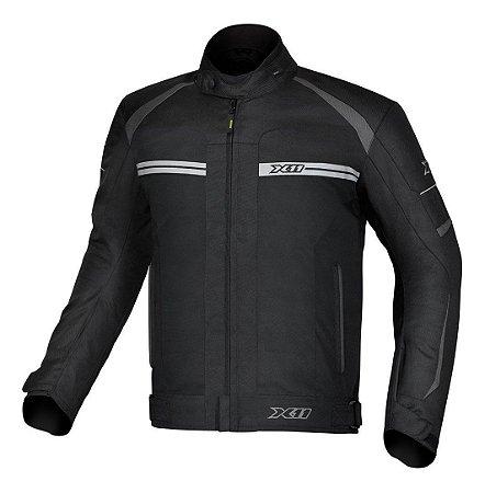 Jaqueta X11 One 2 Masculina Preta Motociclista Impermeável