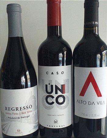 Vinhos Portugueses kit 3 unidades R$ 90,00 reais