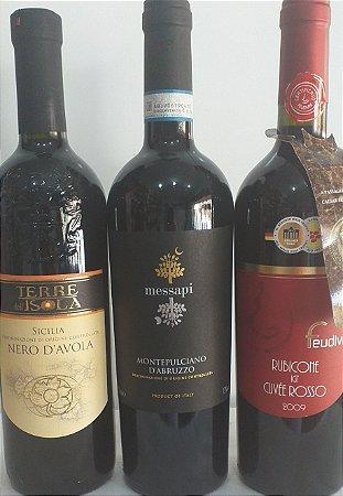 Kit 02 vinhos italianos rosso sêco R$ 135,90 reais
