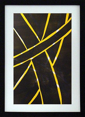 Gravura | Geométrico amarelo e preto 01