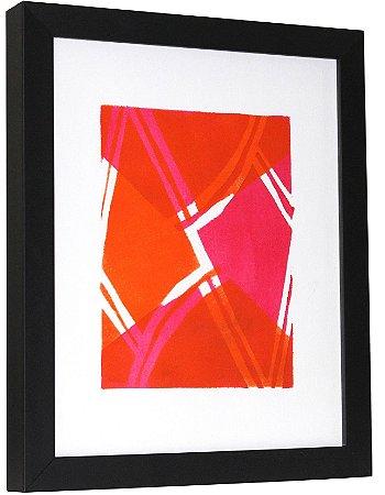 Geométrico laranja e rosa