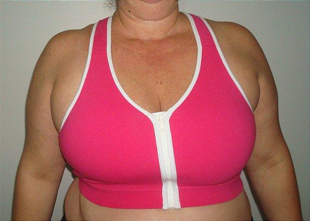 Top argola c/ziper pink c/branco
