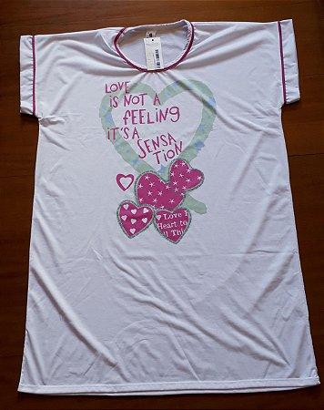 Camisetão corações pink 3225