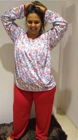 Pijama longo borboletas