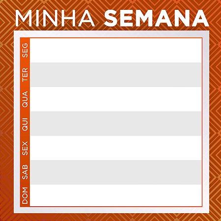"""LOUSA DE VIDRO """"MINHA SEMANA - MARROM"""" 45CM X 45CM"""
