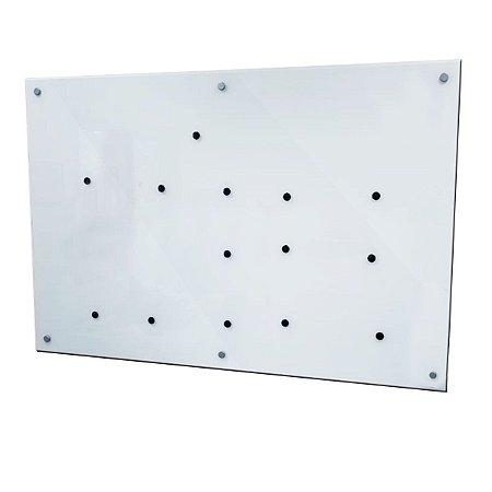 Lousa de Vidro Magnética Branca 160x100cm