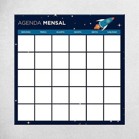 Agenda Mensal Kids - Foguete - 45cm X 45cm