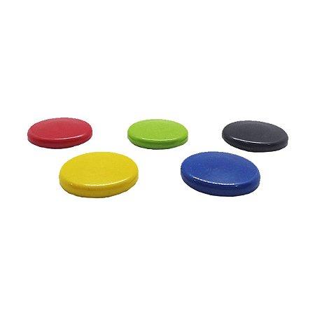 Kit de bottons com imãs para lousa de vidro