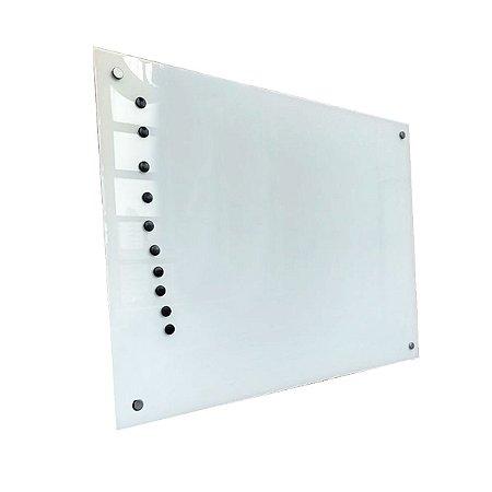 Lousa de Vidro Magnética Branca 80x50